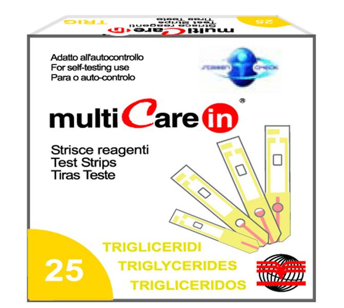 Triglyceridné prúžky pre MultiCare IN, 25ks