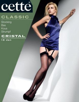 Cette - Cristal, podväzkové pančuchy 18 den, 307-12