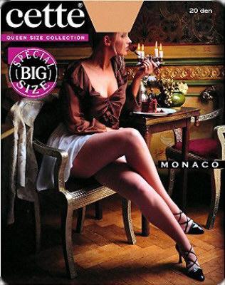 Cette - Monaco Size Plus, pančuchové nohavice 20 den, 835-10