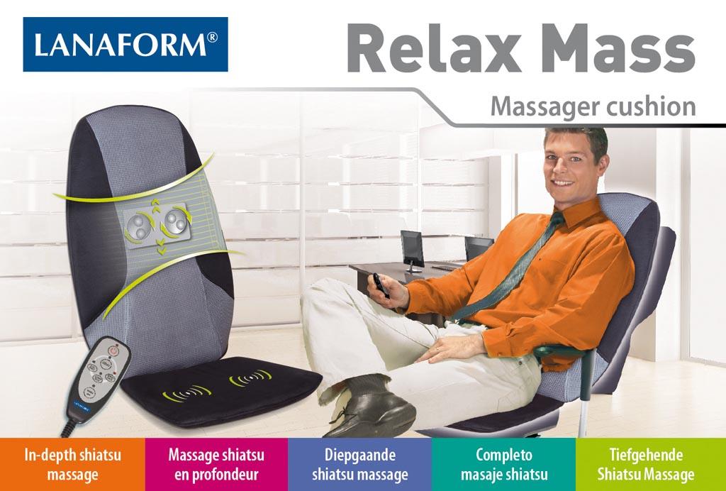 Lanaform Relax Mass : Shiatsu masáž s 2 masážnymi hlavami