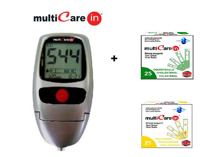 AKCIA: MultiCare IN + Cholesterové prúžky, 5ks + Triglyceridné prúžky,5ks ZDARMA