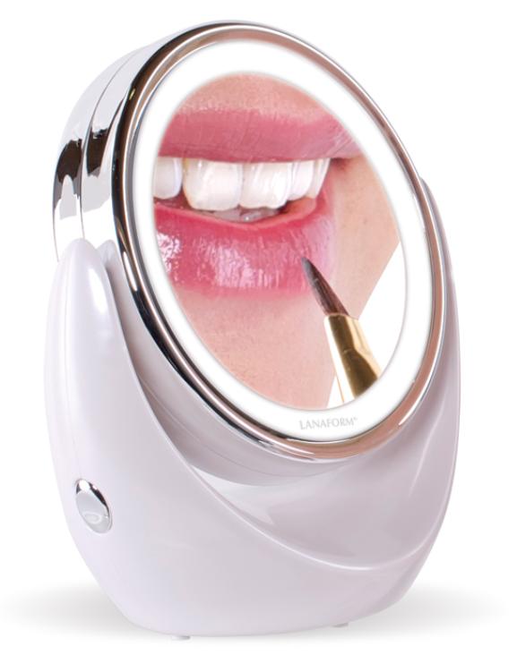 Kozmetické zrkadlo s LED osvetlením Lanaform LED Mirror X10